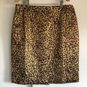 Carman Marc Valvo leopard pencil skirt sz 12. NWT!
